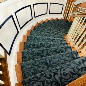 Stairs with carpet | Baycountryfloors